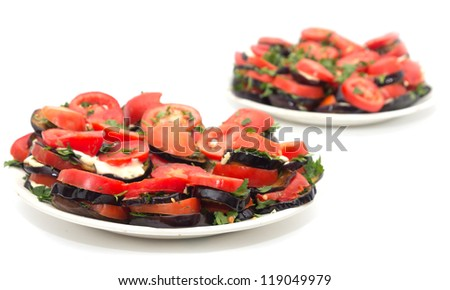 roasted eggplant with tomatoes