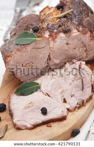 Roasted meat - stock photo