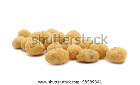 roasted peanuts - stock photo