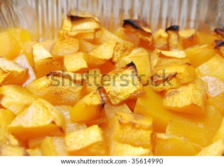 Roasted Pumpkin - stock photo