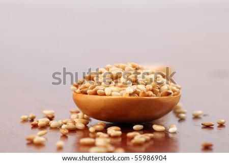 Roasted sesame seeds - stock photo
