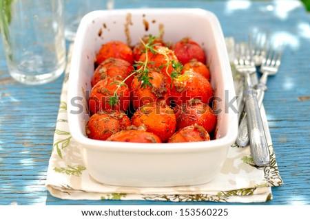 Roasted Tomatoes - stock photo