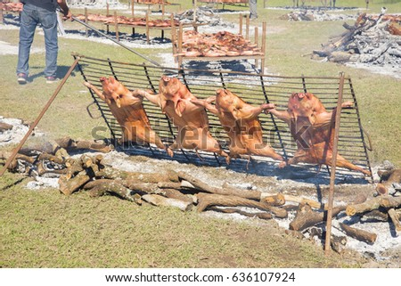 Roasting Suckling Pigs