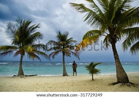 Roatan island. Honduras - stock photo