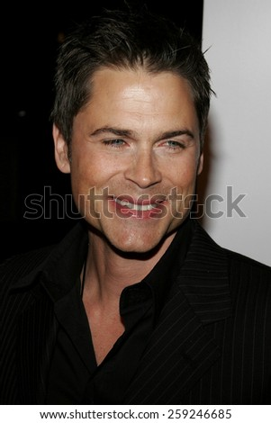 "Rob Lowe attends the Los Angeles Premiere of ""Thank You For Smoking"" held at the Directors Guild Of America in Hollywood, California on March 16, 2006."