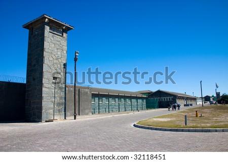 Robben Island Prison where Nelson Mandela was held captive - stock photo