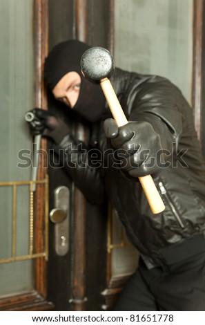 robber - stock photo