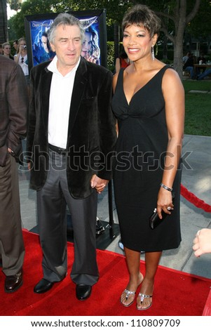 "Robert De Niro and Grace Hightower at the Los Angeles Premiere of ""Stardust"". Paramount Studio Theatre, Hollywood, CA. 07-29-07 - stock photo"