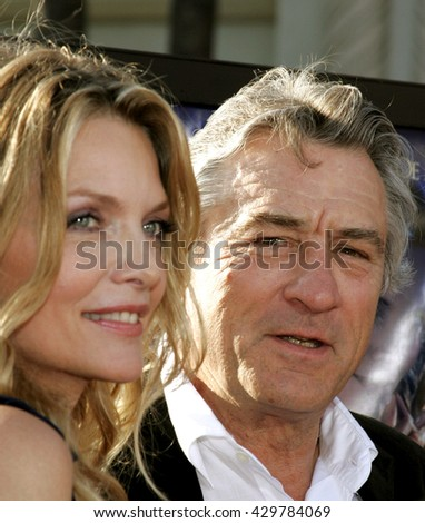 Robert De Niro and Michelle Pfeiffer at the Los Angeles premiere of 'Stardust' held at the Paramount Pictures Studios in Hollywood, USA on July 29, 2007.
