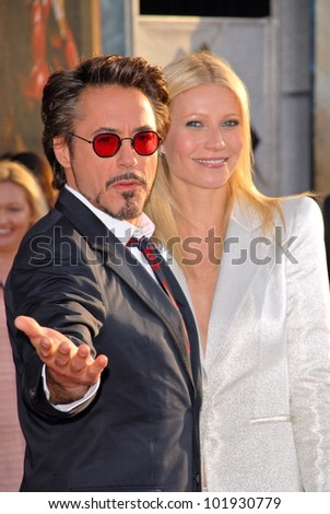 "Robert Downey Jr. and Gwyneth Paltrow  at the ""Iron Man 2"" World Premiere, El Capitan Theater, Hollywood, CA. 04-26-10"