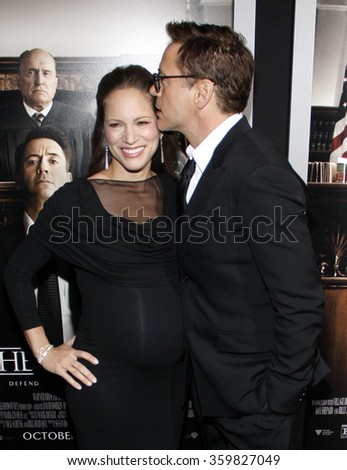 "Robert Downey Jr. and Susan Downey at the Los Angeles premiere of ""The Judge""  held at the AMPAS in Los Angeles, USA on October 1, 2014."