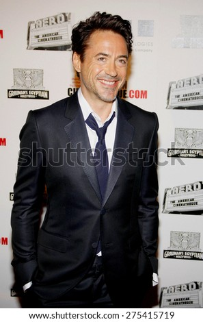 Robert Downey Jr at the 25th American Cinematheque Award Honoring Robert Downey Jr held at the Beverly Hilton hotel in Beverly Hills on October 14, 2011. - stock photo