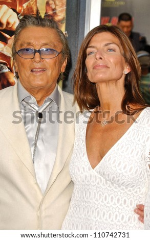 "Robert Evans and friend at the Los Angeles Premiere of ""Rush Hour 3"". Mann's Chinese Theater, Hollywood, CA. 07-30-07"