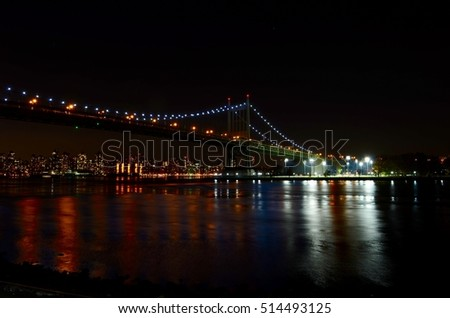 Robert F. Kennedy Bridge, Astoria, Queens, New York City, USA.