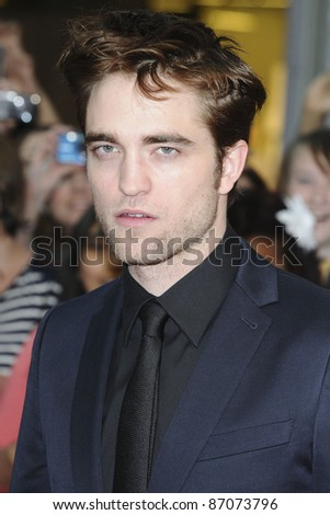 Robert Pattinson arriving for the UK film premiere of Water For Elephants, at Vue Westfield, west London. 03/05/2011  Picture by: Steve Vas / Featureflash