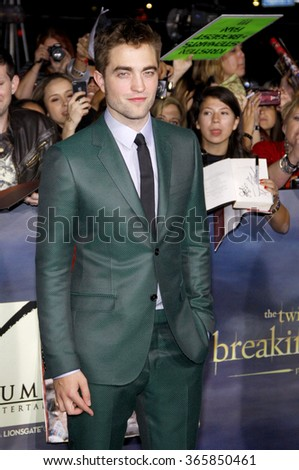 """Robert Pattinson at the Los Angeles Premiere of """"The Twilight Saga: Breaking Dawn - Part 2"""" held at the Nokia L.A. Live Theatre in Los Angeles, California, United States on November 12, 2012.  - stock photo"""