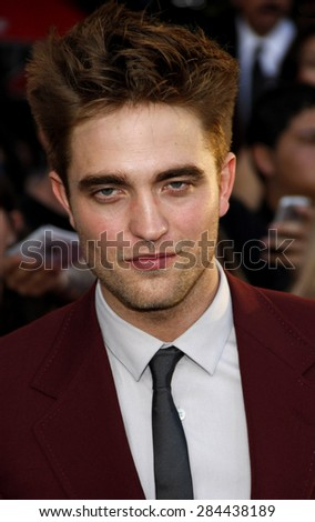 Robert Pattinson at the Los Angeles premiere of 'The Twilight Saga: Eclipse' held at the Nokia Theatre L.A. Live in Los Angeles on June 24, 2010.
