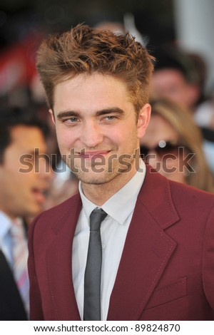 """Robert Pattinson at the premiere of his new movie """"The Twilight Saga: Eclipse"""" at the Nokia Theatre at L.A. Live. June 24, 2010  Los Angeles, CA Picture: Paul Smith / Featureflash - stock photo"""