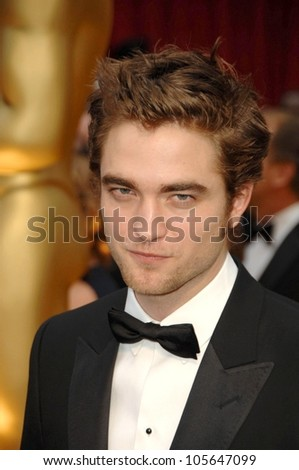 Robert Pattinson  at the 81st Annual Academy Awards. Kodak Theatre, Hollywood, CA. 02-22-09 - stock photo