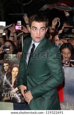 "Robert Pattinson at ""The Twilight Saga: Breaking Dawn - Part 2"" World Premiere, Nokia Theatre, Los Angeles, CA 11-12-12 - stock photo"