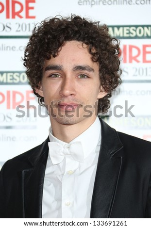 Robert Sheehan arrives for the Empire Film Awards 2013 at the Grosvenor House Hotel, London. 24/03/2013 Picture by: Henry Harris - stock photo