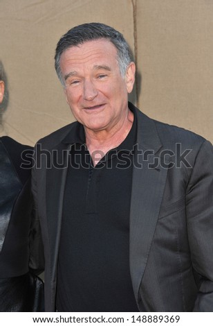 Robin Williams at the CBS 2013 Summer Stars Party in Beverly Hills. July 29, 2013  Los Angeles, CA - stock photo