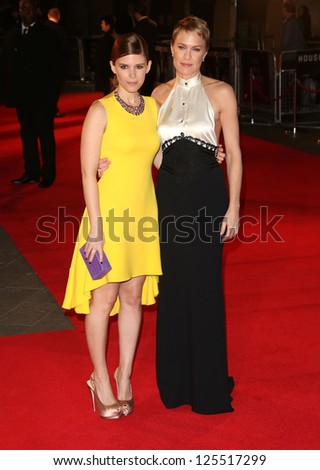 Robin Wright and Kate Mara at The House of Cards TV premiere held at Odeon, London, England. 17/01/2013 Picture by: Henry Harris