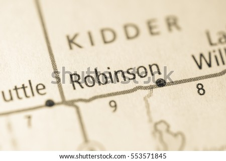 Robinson. North Dakota. USA