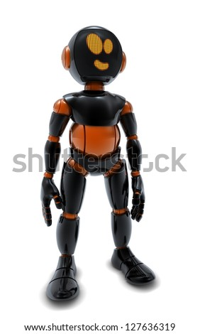 Robot black orange
