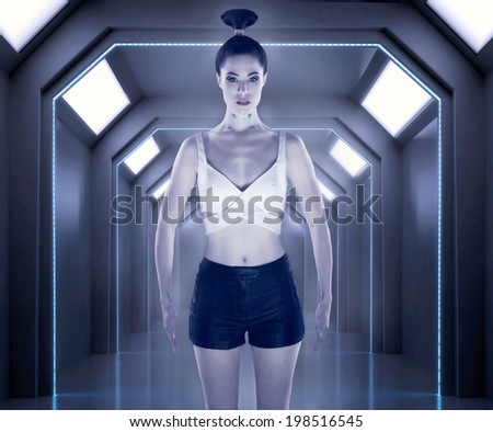 Robot girl - stock photo