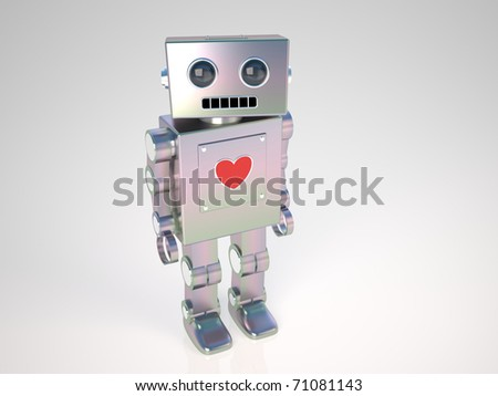 Robot in Love - stock photo