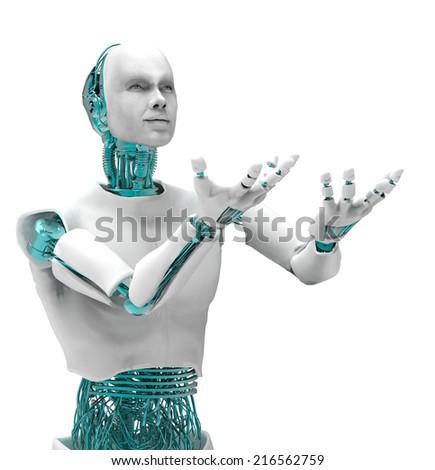 Robot man - stock photo