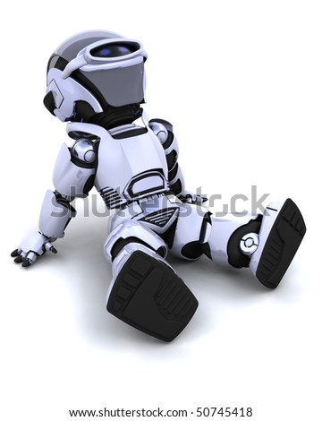 robot relaxing - stock photo