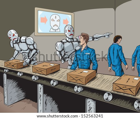 Robot Replacement - stock photo