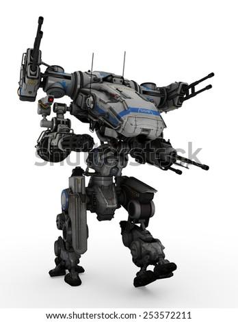 robot running - stock photo