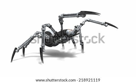 Robot spider - stock photo