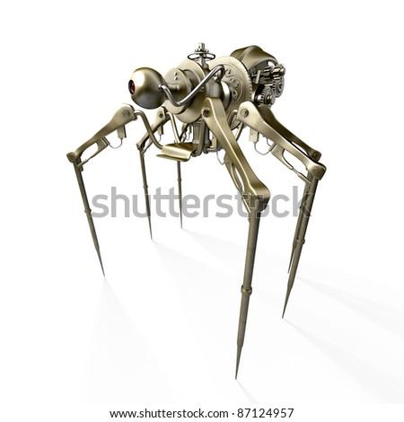 Robot - spider - spy - stock photo