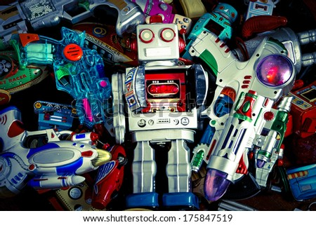Robot Toys Around there Mother Ship