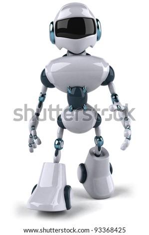 Robot walking - stock photo