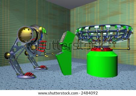 Robot Weaver - stock photo