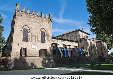 Rocca dei Rossi. San Secondo Parmense. Emilia-Romagna. Italy. - stock photo