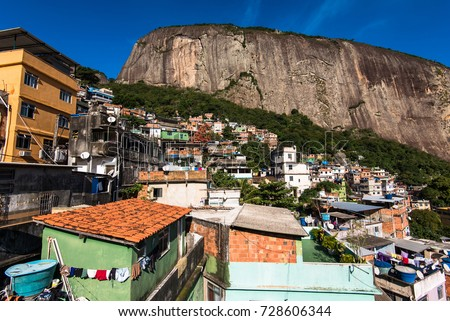 Rocinha Largest Favela Brazil Located Rio Stock Photo - Where is brazil located