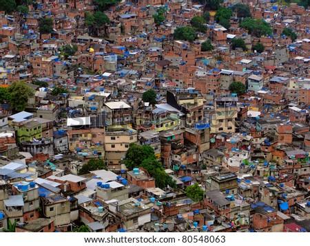 Rocinha - Rio de Janeiro - Brazil - stock photo
