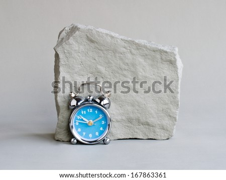rock and clock - stock photo
