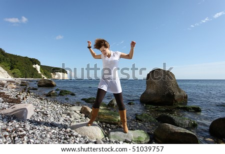 Rock and Roll at the beach - stock photo