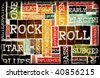 Rock and Roll Music Poster Art as Background - stock vector