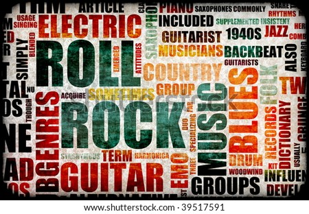 Rock And Roll Music Poster Art