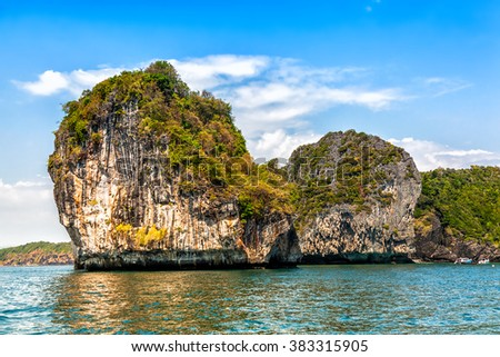 Rock at Phi Phi Islands. Thailand