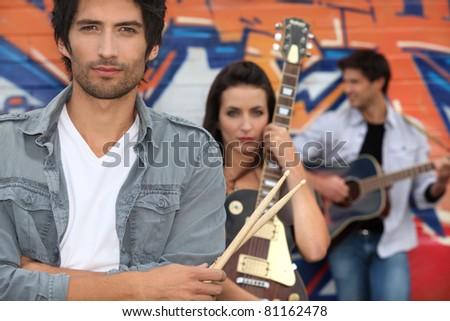 rock band - stock photo