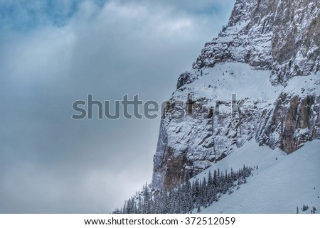 Rock buttress, Canadian Rockies - stock photo